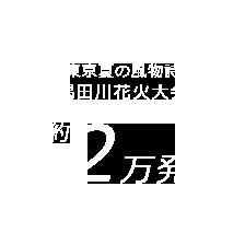 東京夏の風物詩 隅田川花火大会 約2万発