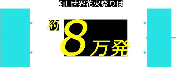 釜山世界花火祭りは約8万発