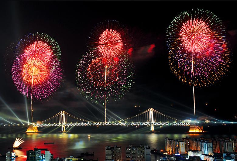 釜山世界花火祭り